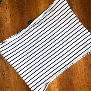 Forever 21 • Striped, Cropped Tube Top